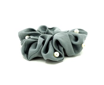 Charisma Hair Accessories Pearl Scrunchies Jade Grey