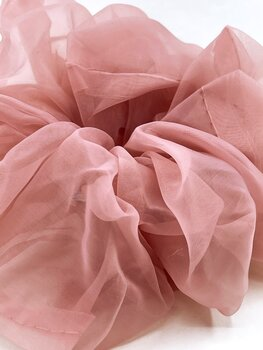 Charisma Hair Accessories Scrunchie Organza Rose Dust