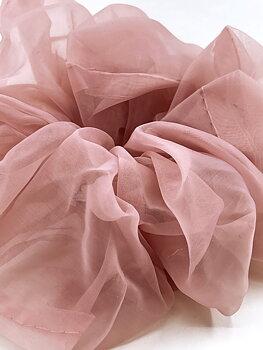 Charisma Hair Accessories Scrunchie Organza Rose Dust