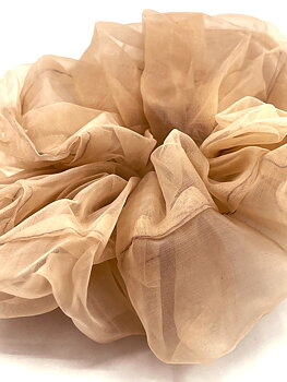 Charisma Hair Accessories Scrunchie Organza Sand