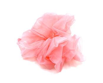 Charisma Hair Accessories Scrunchie Organza Pink
