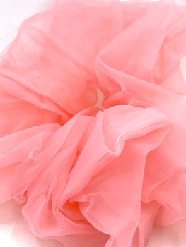 Charisma Hair Accessories Scrunchie Organza Pink