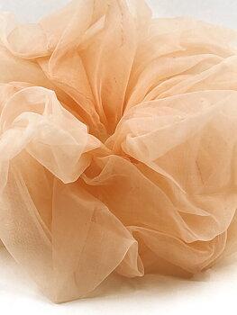 Charisma Hair Accessories Scrunchie Organza Peach