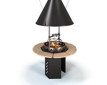 Set de grill et cheminée intérieur VIKING