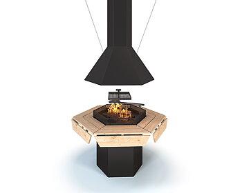 Kit gril avec cheminée Nordkapp S6 / S8