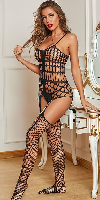 Lace Stretch Bodystocking