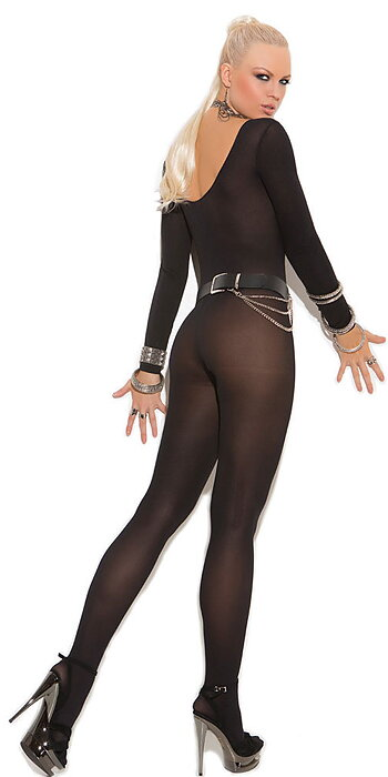 Black Foxy Bodystocking