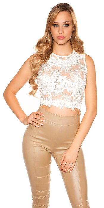 koucla WITH LACE croptop
