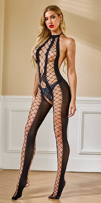 Fishnet Backless Bodystocking