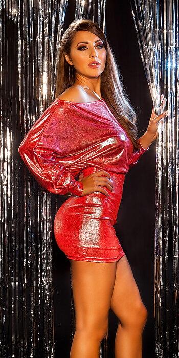 koucla GLANZ/WETLOOK klänning