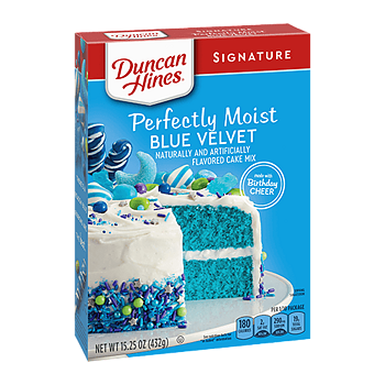 Duncan Hines®   Blue Velvet Cake Mix