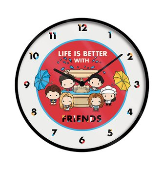 "Friends ""life is better with friends"" Chili Clock"