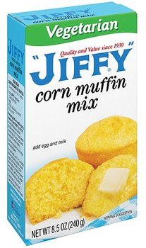 Jiffy Vegetarian corn muffin mix;