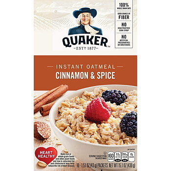 Quaker® Oats Cinnamon & Spice; 10 packages