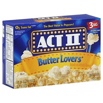 Act II butter lover popcorn 3 pack