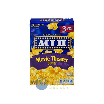 Act II movie theater popcorn 3 pack