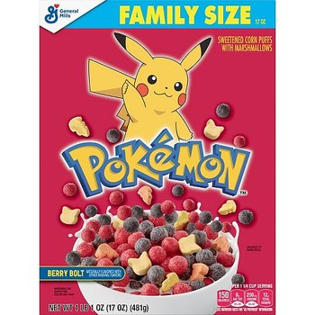 Pokémon Cereal Limited Edition family size
