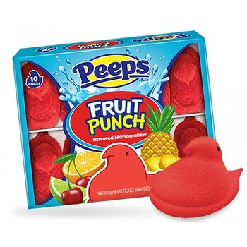Peeps® Fruit Punch Marshmallow Chicks 10 Pack
