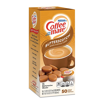 Coffeemate Butterscotch liquid 50 capsules