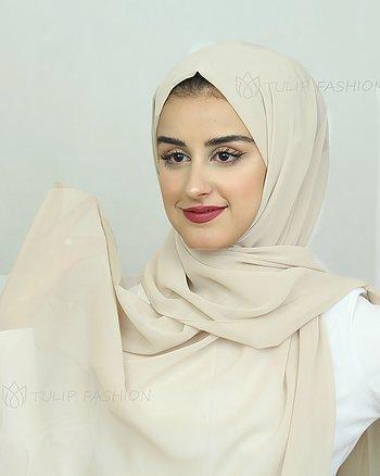 Hijab - Chiffon - Light Beige