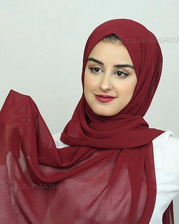 Hijab - Chiffon - Medium Maroon