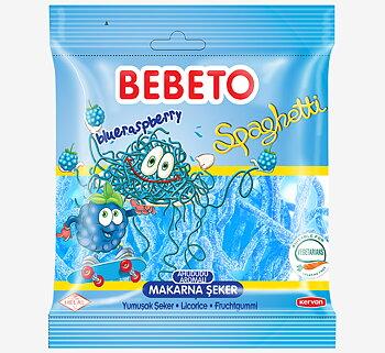 Bebeto Halal Sour Blue Raspberry Spaghetti 80g