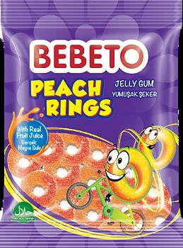Bebeto Halal Peach Rings 80g