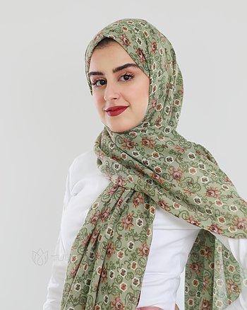 Hijab - Pashmina Rosalia - Grön