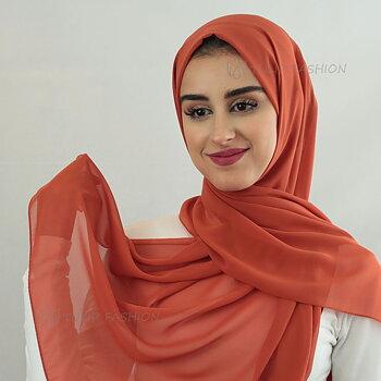 Hijab - Chiffon - Orange