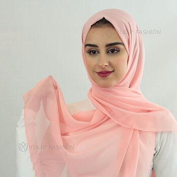 Hijab - Chiffon - Rosa Sockervadd