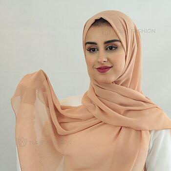 Hijab - Chiffon - Karamell Brun