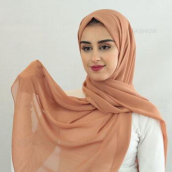Hijab - Chiffon - Cinnamon Brun