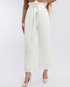 Sanna Pleated Vidbyxor - Vit