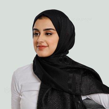 Hijab - Light Pashmina Flower - Svart