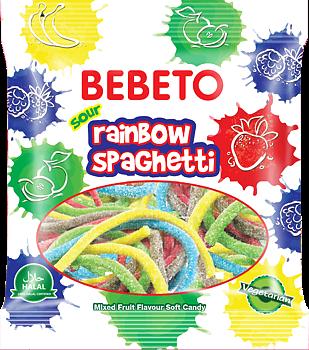 Bebeto Halal Sour Rainbow Spaghetti 80g