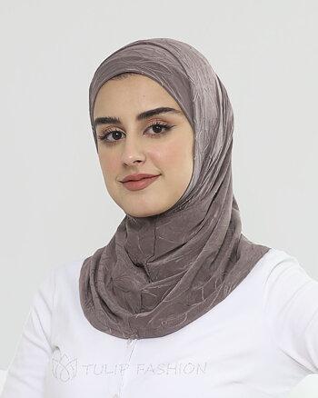 Hijab Al Amira Dekorerad Lycra - Chocolate