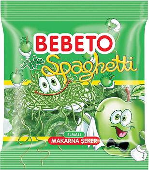 Bebeto Halal Sour Äpple Spaghetti 80g