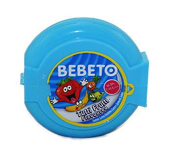 Bebeto Halal Bing Bong Roll Bubble Gum Tutti Frutti 40g