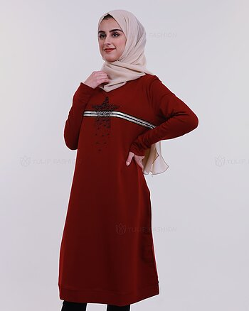 Star Tunic - Maroon