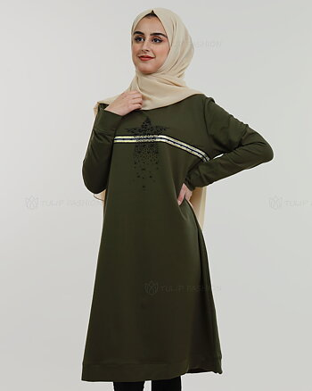 Star Tunic - Olive Green