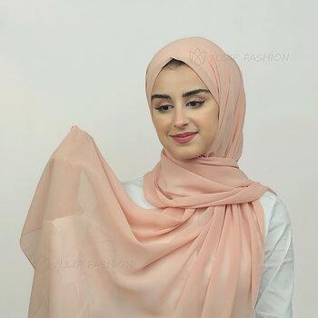 Hijab - Chiffon - Persika