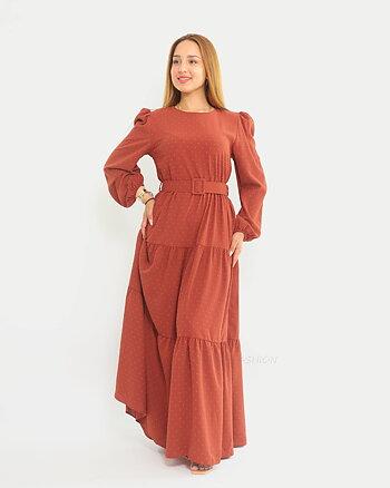 Vera Dress - Firebrick