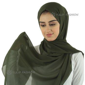 Hijab - Chiffon - Olivgrön