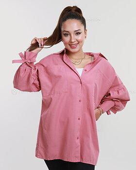 Skjorta med ballongärmar - Rosa