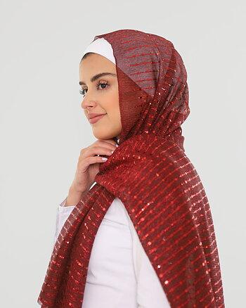 Hijab - Elly Glitter - Maroon
