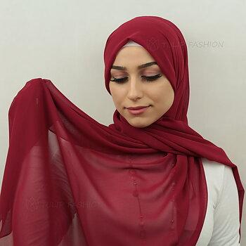 Hijab - Chiffon - Ljus Maroon