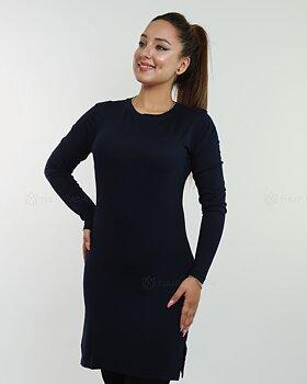 Basic långärmad tröja - Midnattsblå