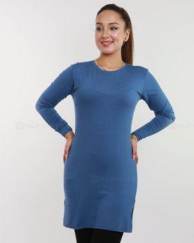Basic långärmad tröja - Royal blå