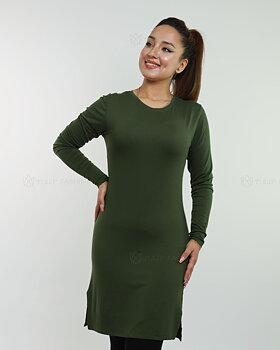Basic långärmad tröja - Oliv