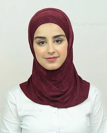 Hijab Al Amira Dekorerad Lycra - Maroon